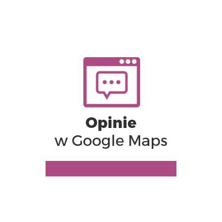 Opinie w Google Maps